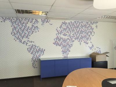 Custom print map digital wallpaper