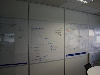 Stackable Office whiteboard doors