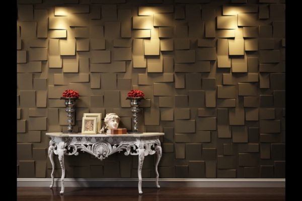 3D Wall tiles feature wall