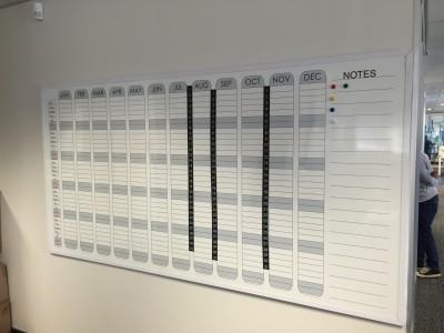 Whiteboard custom calendar
