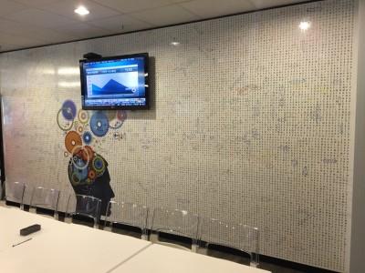 re-writable whiteboard wall, giant write and write wall