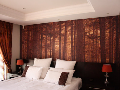 residential forest printed digital wallpaper forest mural design