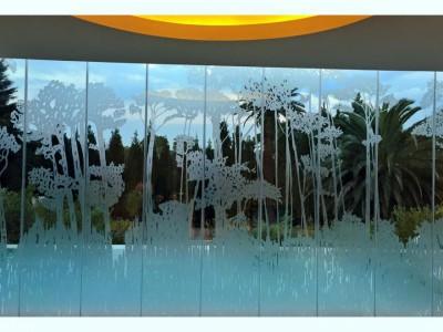 sandblasted glass design