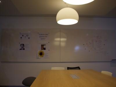 frameless whiteboard panels