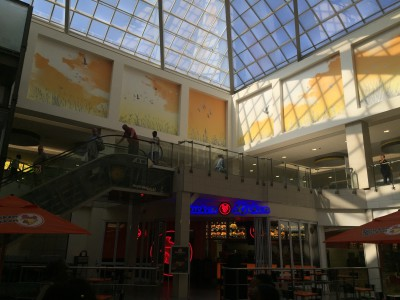 Printed digital wallpaper Balfour shopping mall