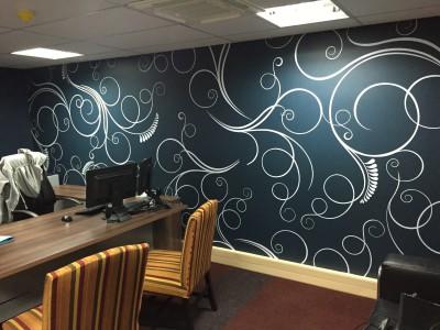 Decorative office graphic wallpaper