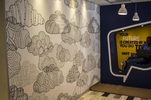 Cloud wallpaper design Standard bank