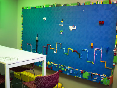 Lego wall for Standard bank branch